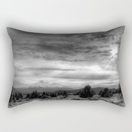 Mt Shasta in B & W Rectangular Pillow