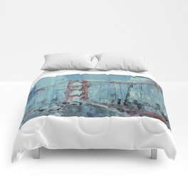 Golden Gate Bridge IV Comforters