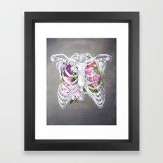Floral Ribcage Framed Art Print