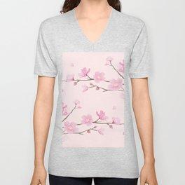 Cherry Blossom - Pink Unisex V-Neck