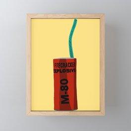 M-80 Fire Cracker Framed Mini Art Print