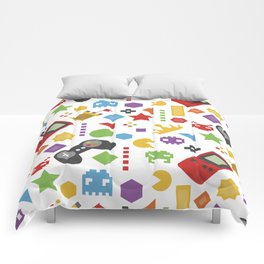 video game pattern Comforters