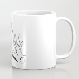 Rabbit Hand Shadow Coffee Mug