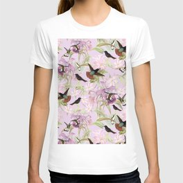 Vintage & Shabby Chic - Hummingbird tropical Jungle Pattern T-shirt