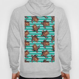 turtles in stripes Hoody