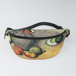 "Paul Cezanne ""Still life, jug and fruit on a table"" Fanny Pack"