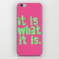 What It Is Pink iPhone & iPod Skin