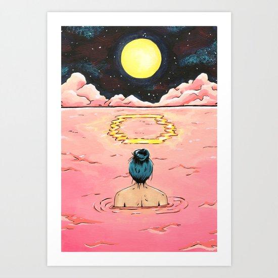 O for Ocean   Alphabet Zine Art Print