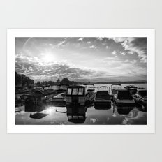 Sunrise at the Pier , Canandaigua Lake Art Print