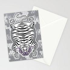 TIBETAN TIGER WHITE (white) Stationery Cards