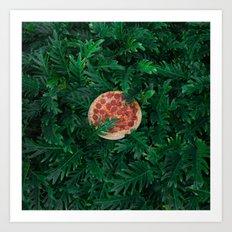 Pizza Foliage Art Print