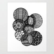 Sharpie Circles Art Print
