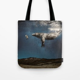 we exist in the same exhale. Tote Bag