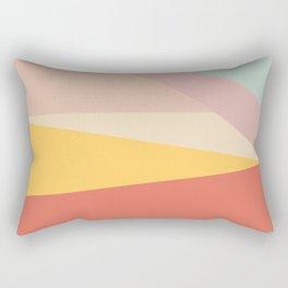 Retro Abstract Geometric Rectangular Pillow
