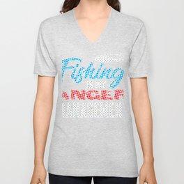 Fishing is my anger management Spots Unisex V-Neck
