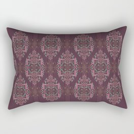 Vintage Burgundy with Blessing Rectangular Pillow