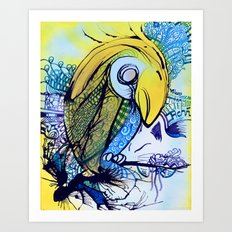 Pattern Parrot Art Print