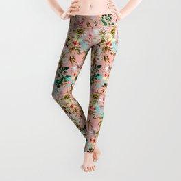 Gardenia #pattern #botanical Leggings