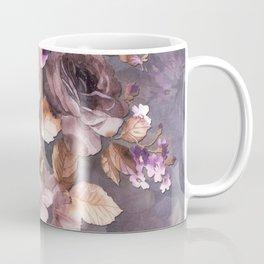 Vintage Mauve Wall Flowers Coffee Mug