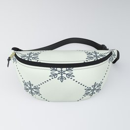 Christmas Snowflake Wallpaper Pattern Fanny Pack