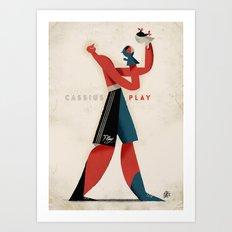 Cassius Play Art Print