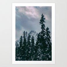 Cascade Winter Mountain Art Print