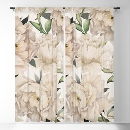 Peonies Pattern Blackout Curtain