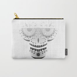 Sugar Skull - Day of the dead bw Carry-All Pouch