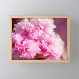 Pink fower patern Framed Mini Art Print
