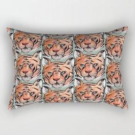 a tiger Rectangular Pillow