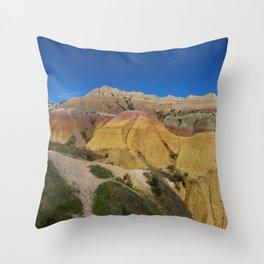 Colorful Badlands Landscape Throw Pillow