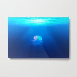 Lone Jellyfish Metal Print
