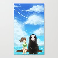 spirited away Canvas Prints featuring Spirited Away by JoanaBee