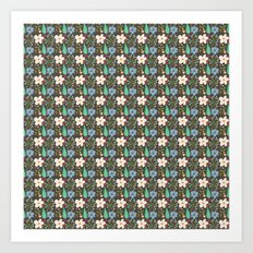 Fun Floral Pattern Art Print