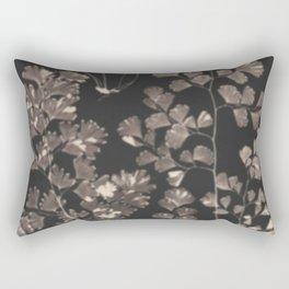 Black Maidenhair Rectangular Pillow