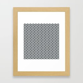 Hex shadow pattern  Framed Art Print
