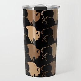 Native American Buffalo Running Travel Mug