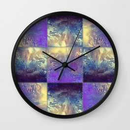 Abstract Silver Stiched canvas Wall Clock