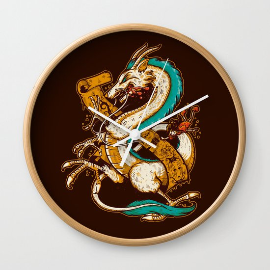 SPIRITED CREST Wall Clock