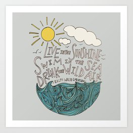 Emerson: Live in the Sunshine Art Print