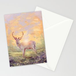 White deer Stationery Cards