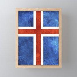 Icelandic Flag Framed Mini Art Print