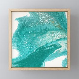 Riding the Waves Framed Mini Art Print