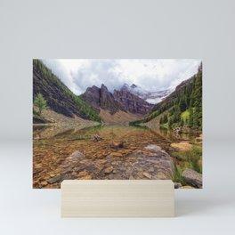 Tranquil View of Lake Agnes, Banff National Park, Alberta, Canada. Mini Art Print