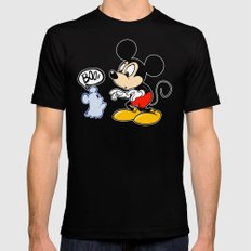 Micky Mouse Mens Fitted Tee MEDIUM Black