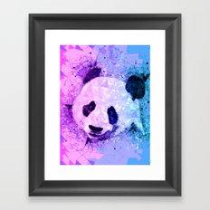 Colorful Geometric Panda Art - Cute Pandas Framed Art Print
