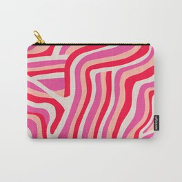 pink zebra stripes Carry-All Pouch
