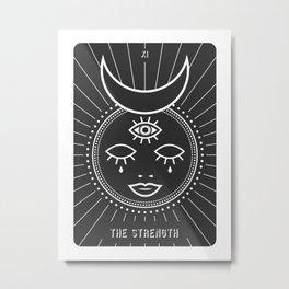 The Strenght Minimal Deck Tarot Metal Print