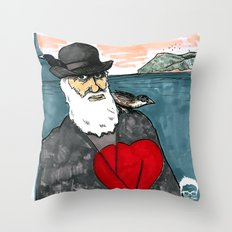A Darwinian Heart Throw Pillow