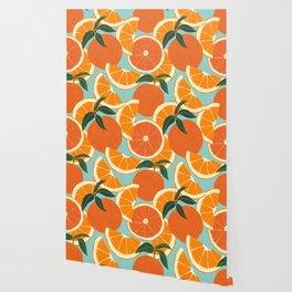 Orange Harvest - Blue Wallpaper